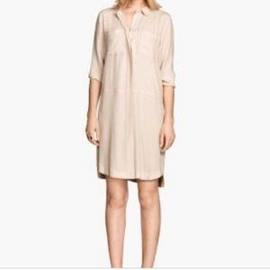 H&M Women Crepe Button-Down Shirt Dress